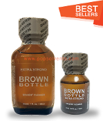 Brown Bottle Leather Solvent Cleaners 30ml & 10ml-2Pack