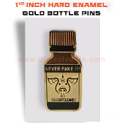 Hard Enamel Fashion Bottle Gold Pins